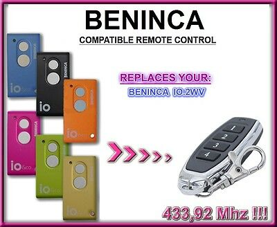 BENINCA IO.2WV compatible remote control, replacement transmitter 433,92Mhz