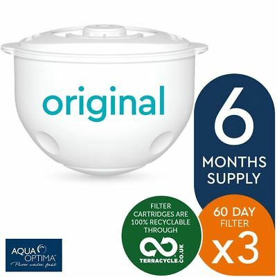 3 x Aqua Optima Double-Life 60-Day Water Jug Refill Filters - 6 Months Supply