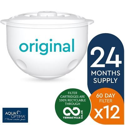 12 x Aqua Optima Double-Life 60-Day Water Jug Refill Filters - 24 Months Supply