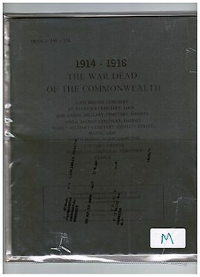 Cwgc War Book Memorial Dead Soldiers Ww1  9 Diff Loos  (M)
