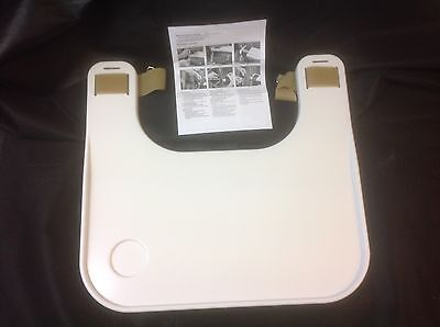 Wheelchair Lap Tray Economy White Lightweight Moulded Tray by Sammons Preston