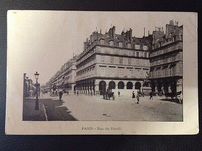 Paris Postcard - Rue De Rivoli Unwritten