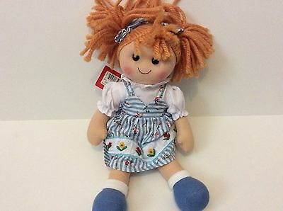 Bigjigs Girl Rag Doll Soft Toy New. For age 1 and over.