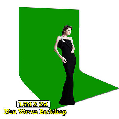 Video GREEN1.6x2m Non Woven Backdrop Screen Photo Studio Lighting Background