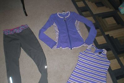 Lot of Girls Ivivva by Lululemon Leggings, Rare Luon Jacket and Tank Top  sz 12