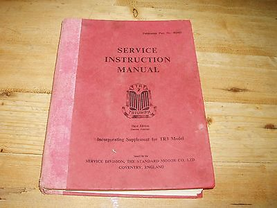 Original Service Instruction Manual for Triumph TR2 with TR3 Supplement.