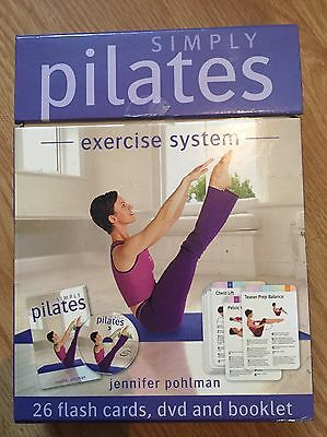 NEW Simply PILATES Exercise System DVD, Booklet, Cards Workout Fitness Beginner