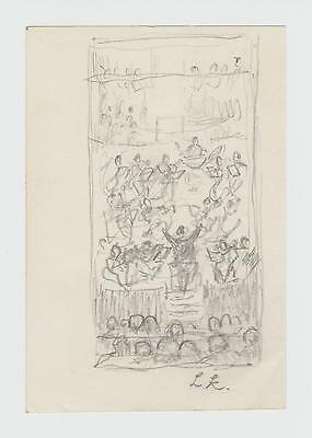 Pencil Drawing initialled L.K. - Laura Knight
