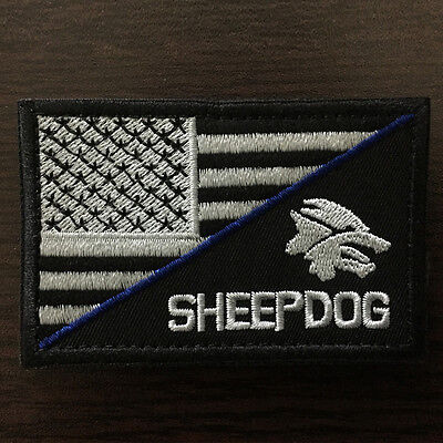 """3""""*2"""" SHEEPDOG American Flag Army Military Tactical Morale Badge SWAT OPS Patch"""