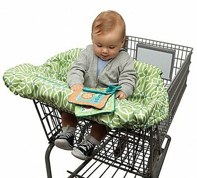 Boppy Shopping Cart Cover Park Gate Green Baby Secure Machine Wash Safety Strap