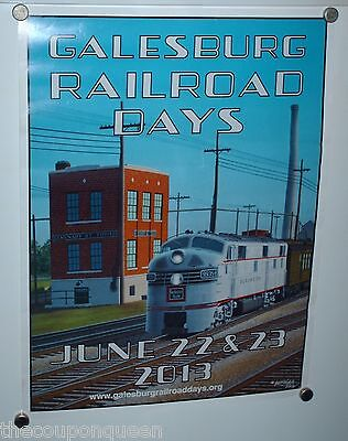 Galesburg Illinois Railroad Days Poster 2013, Used