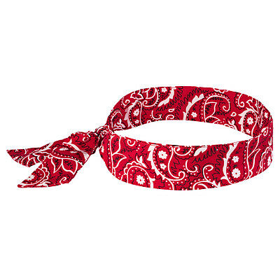 Chill-Its 6700 Evaporative Cooling Bandana - Tie Red Western