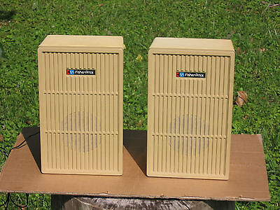 A Pair of Fisher Price 8 ohm Full-Range Speaker Systems In Good Condition!