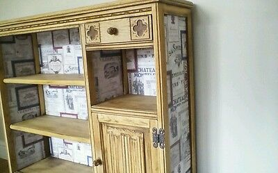 1940s solid oak old charm bookcase with side cupboard and drawer unique upcycled