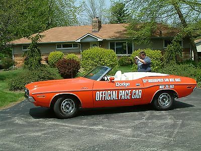 1971 Dodge Challenger  1971 Dodge Challenger Convertible Indy 500 Mile Race Courtesy Collector Car