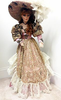 "RUSTIE ""STORMY"" 42"" VICTORIAN PORCELAIN DOLL by WELDON MUSEUM COLLECTIBLES w/COA"