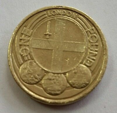 UK capital City series 2010 London £1 one pound coin