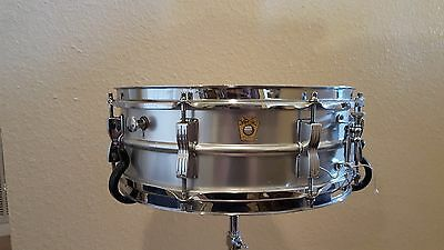 Vintage 60s Keystone Ludwig Acrolite Snare Drum with Case and WFL Stand