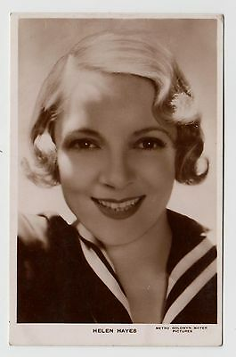 POSTCARD - Helen Hayes, movie star film cinema actress, real photo RP
