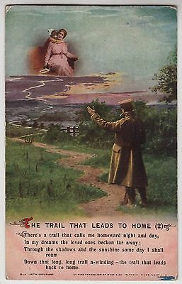 "POSTCARD - Bamforth Song Card ""The Trail That Leads to Home (2)"" soldier #4982/2"