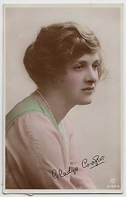 "POSTCARD - Gladys Cooper ""British Beauty"" actress, real photo ref B.140-4"
