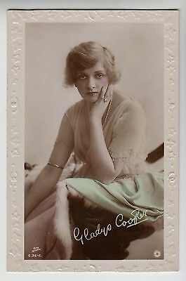 "POSTCARD -  actress Gladys Cooper ""British Beauty"" glamour fashion, ref S.36-6"
