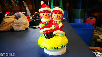 Vintage Raggedy Ann And Andy Christmas Music Box