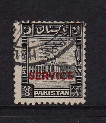 Pakistan 1949, F/Used 8annas Official Stamp.