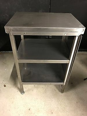 Commercial Stainless Steel Prep Table with 2 Shelves