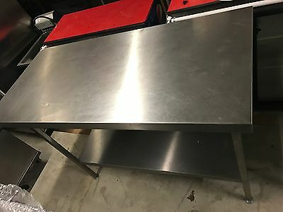 Large Commercial Stainless Steel Prep Table