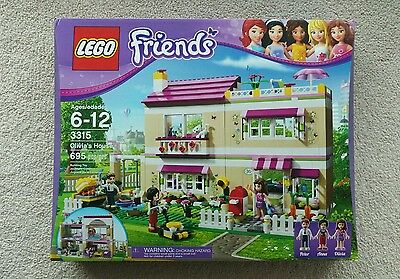 Must Buy Brand New Factory Sealed Lego Friends 3315 Olivia's House Set NISB