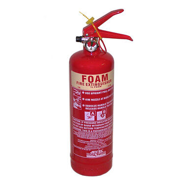 New Premium 1 Litre Foam Fire Extinguisher - For Class A&B Fires
