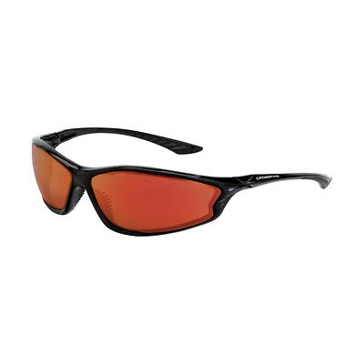 Crossfire KP6 Safety Glasses with Red Mirror Lens, Black Frame