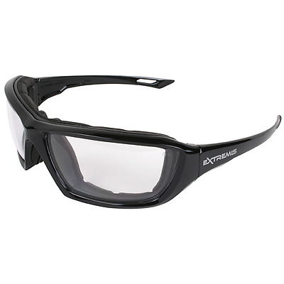 Radians Extremis Safety Glasses with Clear Anti-fog Lens, Black Frame - XT1-11