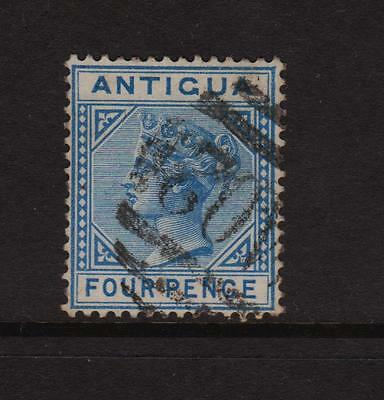 Antigua 1882, F/Used 4d Blue Definitive Stamp.