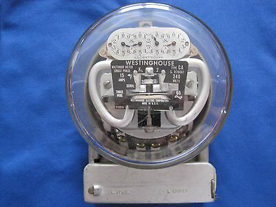 Vintage Westinghouse Electric Meter Type CA