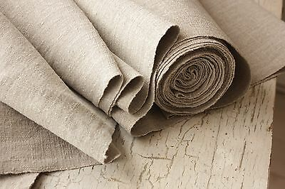 GRAINSACK fabric grain sack material GREY GRAY old WIDE 12.7 YARDS upholstery