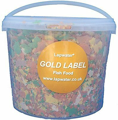 Lapwater Value Goldfish & Pond Flake Aquarium Fish Food 5000ml 5 Litre Bucket