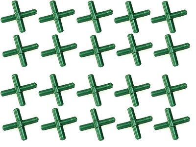x20 Cross Shaped Connectors for Standard Aquarium Air Line Cross Fitting