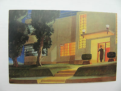 ARCHITECTURAL DESIGN by MAXWELL FOSTER ARTISTS in 1930 - REPRODUCTION POSTCARD