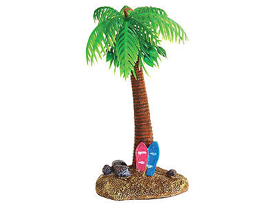 Beach Palm Tree & Surf Boards Aquarium Goldfish Bowl Fish Tank Ornament