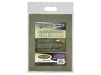 Nitrite Reduction Pad Filter Media Pad for Aquariums & Ponds Cut to Size