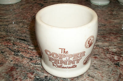 THE COPPER PENNY restaurant ware COFFEE CUP MUG Shenango china ADV A-28 72 STAMP
