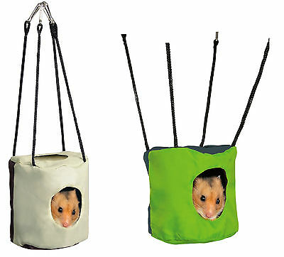 Hanging Cave Den Hammock Toy Cuddly Hide-Away for Hamsters Mice Gerbils