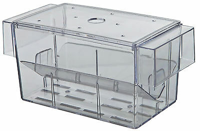 Aquarium Breeding Trap for Molly Platy Guppy Fry 2 Way Plastic Hatchery with Lid