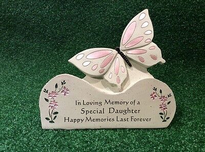 Daughter Butterfly Grave Memorial Ornament, Graveside Remembrance Cemetery Gift.