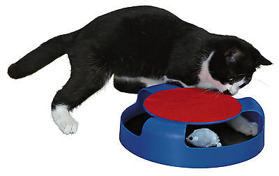 Catch the Mouse Activity Cat Toy with Plush Revolving Mouse & Scratch Mat Pad