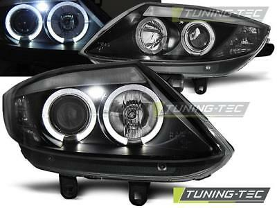 Coppia Fari Anteriori Bmw Z4 E85 E86 02-08 Angel Eyes Black
