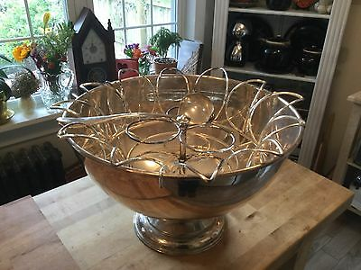 Very Large Silver Plated Party Drink Cooler/ Punch Bowl