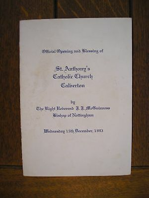 Opening and Blessing of St Anthony's Calverton 1993